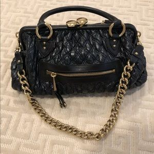 AUTHENTIC Marc Jacobs Iconic Navy Blue Stam Bag